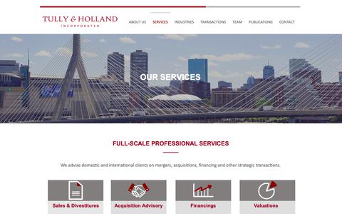 Screenshot of Services Page tullyandholland.com - SERVICES | Tully & Holland - captured May 29, 2019