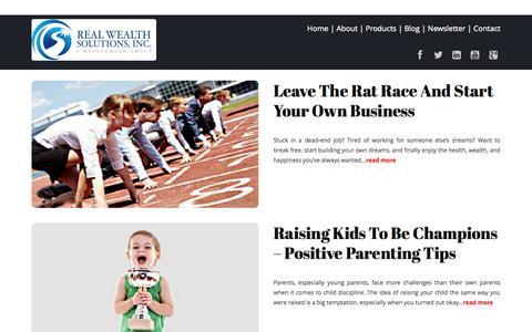 Screenshot of Blog realwealthsolutionsinc.com - Blog | Real Wealth Solutions - captured Oct. 26, 2014