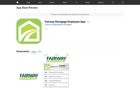 Fairway Mortgage Employee App on the AppStore