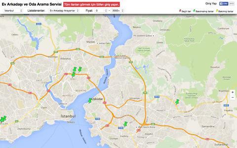Screenshot of Home Page wapur.com - Ev Arkadaşı Arama Servisi - captured Oct. 10, 2015