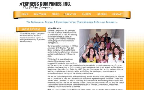 Screenshot of About Page expresscompaniesinc.com - Express Companies, Inc. | About - captured Dec. 8, 2018