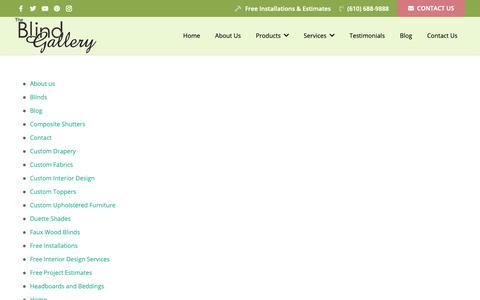 Screenshot of Site Map Page blindgallerypa.com - Sitemap - The Blind Gallery - captured Dec. 9, 2018