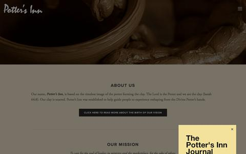Screenshot of About Page pottersinn.com - What we are about — Potter's Inn - captured July 20, 2018