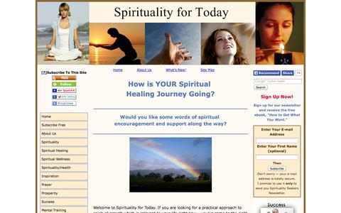 Screenshot of Home Page practical-spiritual-healing-guide.com - Words of Spiritual Encouragement -Spiritual Growth and Healing - captured Sept. 30, 2014