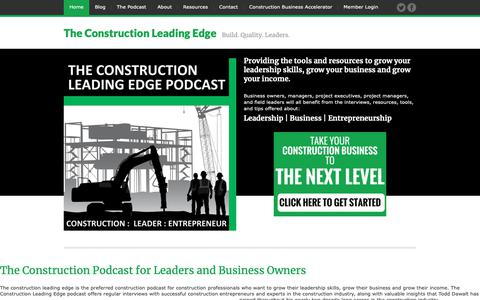Screenshot of Home Page constructionleadingedge.com - Construction Leading Edge - captured Oct. 20, 2018