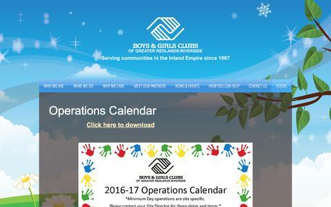 Screenshot of Hours Page begreatie.org - Boys & Girls Clubs-After School Programs | HOURS - captured Nov. 23, 2016