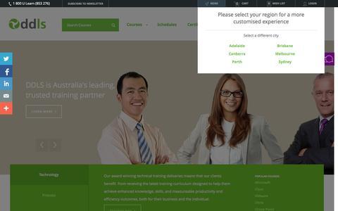 Screenshot of Home Page ddls.com.au - DDLS - captured Jan. 21, 2015