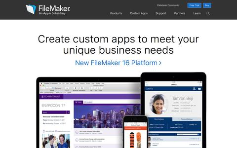 Create custom apps | FileMaker — An Apple Subsidiary