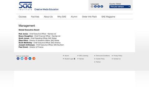 Screenshot of Team Page sae.edu - Management - captured Sept. 19, 2014