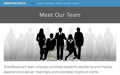 Screenshot of Team Page smartrevenue.com - Meet Our Team — SMARTREVENUE - captured Sept. 21, 2018