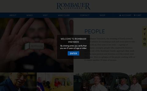 Screenshot of Team Page rombauer.com - People - Rombauer Vineyards - captured Nov. 22, 2015