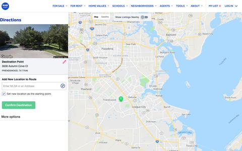 Screenshot of Maps & Directions Page har.com - Map Directions - HAR.com - captured Oct. 31, 2018
