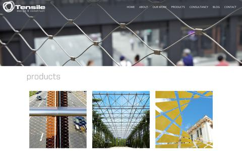 Screenshot of Products Page tensile.com.au - Stainless Steel Net Products | Tensile Design & Construct | Tensile Design & Construct - captured Nov. 7, 2017