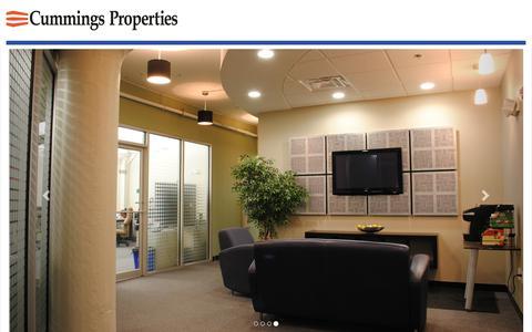 Screenshot of Landing Page cummingsproperties.com - Rent Quality Office - captured July 23, 2017