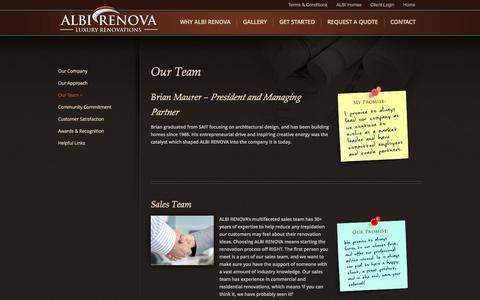 Screenshot of Team Page albirenova.com - Our Team | ALBI RENOVA - captured Sept. 30, 2014