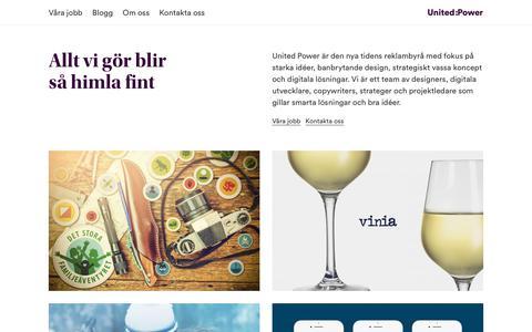 Screenshot of Home Page unitedpower.se - United Power - Reklambyrå, webbyrå, contentbyrå i Falun - captured Nov. 12, 2017