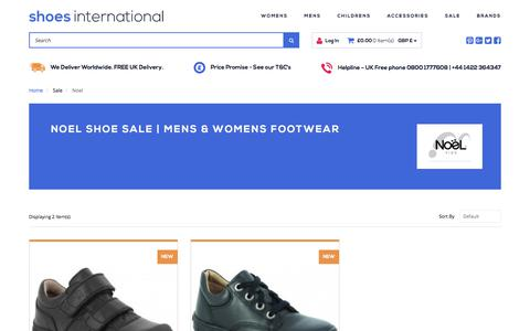 Screenshot of shoesinternational.co.uk - Shoe Sale | Mens & Womens Footwear | Shoes International - captured Sept. 24, 2017