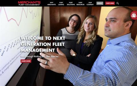 Screenshot of Home Page merchantsfleetmanagement.com - Home | Merchants Fleet Management - captured March 31, 2018