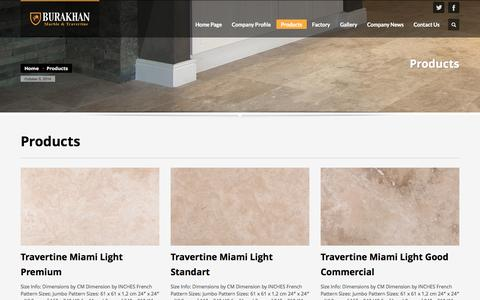 Screenshot of Products Page burakhan.com.tr - Burakhan Marble | Products - captured Oct. 5, 2014
