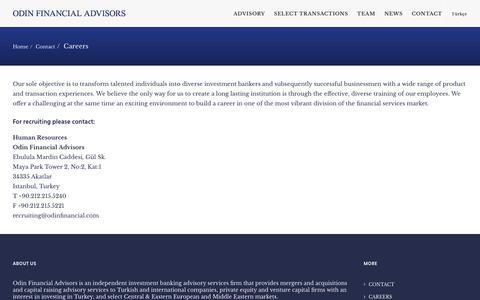 Screenshot of Jobs Page odinfinancial.com - Careers - Odin Financial Advisors - captured Oct. 19, 2018