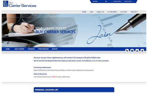 Screenshot of Signup Page buycarrierservices.com captured Sept. 30, 2014