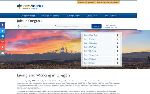 Screenshot of Home Page providence-oregon.jobs - Providence Oregon Jobs - captured Jan. 24, 2017