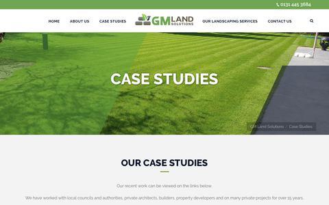 Screenshot of Case Studies Page gmlandsolutions.co.uk - Case Studies - GM Land Solutions - captured Oct. 18, 2018