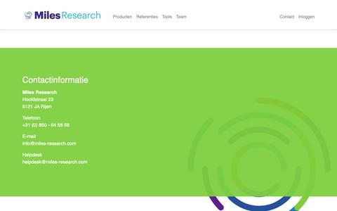 Screenshot of Contact Page managementinstituut.nl - Contact - captured Oct. 2, 2018