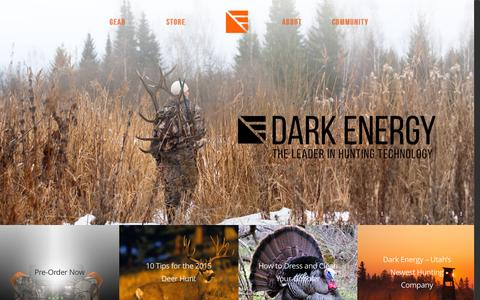 Screenshot of Home Page darkenergy.com - Home | Dark Energy - captured June 17, 2015