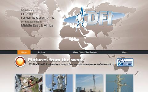 Screenshot of Home Page dfitelecom.com - dfitelecom, engineering, ingénierie, pylon, monopole - captured May 11, 2017