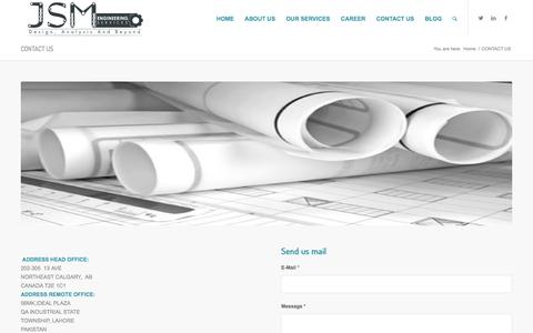 Screenshot of Contact Page jsmengineering.net - CONTACT US |DRAFTING SERVICES|ENGINEERING CAD SERVICES - captured Feb. 4, 2016