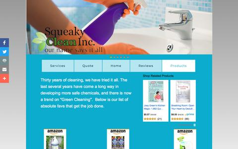 Screenshot of Products Page squeakycleaninc.org - Products - captured Nov. 15, 2017