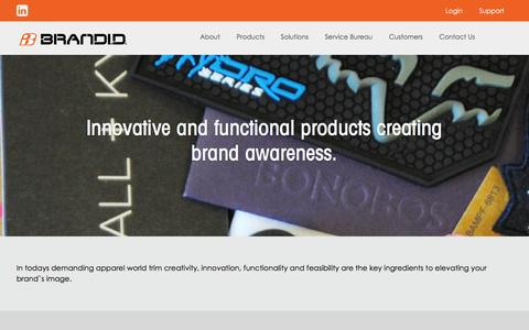 Screenshot of Products Page brandid.com - Trims, UPCs and Packaging Products   Brand ID - captured Jan. 7, 2016