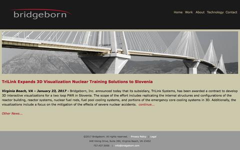 Screenshot of Press Page bridgeborn.com - News1 | Bridgeborn, Inc - captured June 3, 2017
