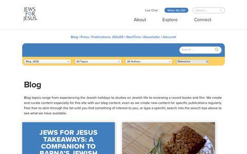 Screenshot of Blog jewsforjesus.org - Articles - Jews for Jesus - captured Jan. 15, 2018