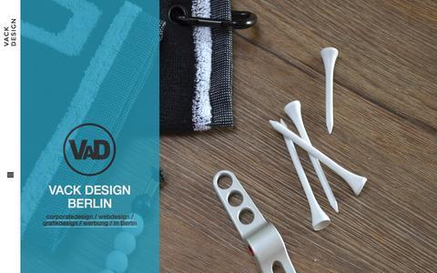 Screenshot of Home Page homepage-berlin.com - Web - und Grafikdesign aus Berlin die Homepage von Vack Design - captured June 11, 2016