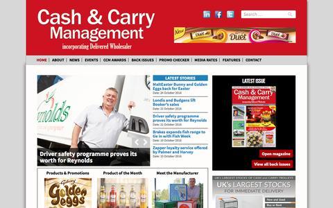 Screenshot of Home Page cashandcarrymanagement.co.uk - Cash & Carry Management Magazine incorporating Delivered Wholesaler - captured Oct. 26, 2016