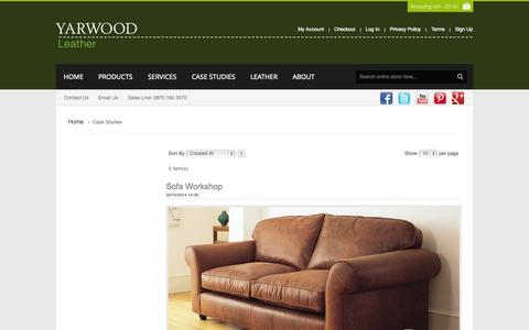 Screenshot of Case Studies Page yarwoodleather.com - Case Studies - captured Oct. 29, 2014