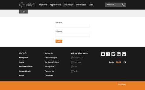 Screenshot of Login Page eddyfi.com - Login - Eddyfi - captured July 16, 2018
