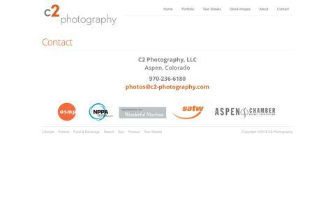 Screenshot of Contact Page c2-photography.com - C2 Photography | Aspen Photographer | Contact - captured Oct. 1, 2014