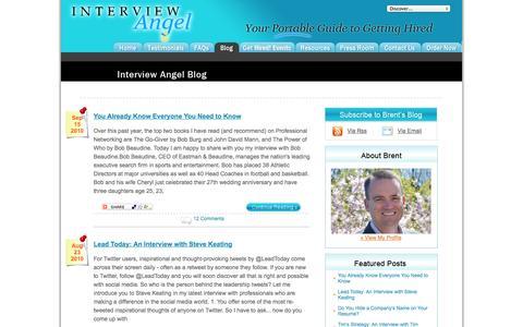 Screenshot of Blog interviewangel.com - Blog - Interview Angel, Inc. - captured Sept. 23, 2014