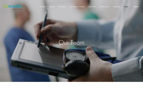 Screenshot of Team Page komedixhc.com - Team — Komedix Healthcare - captured March 9, 2016