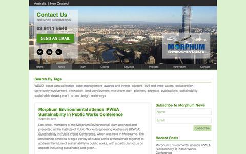 Screenshot of Press Page morphum.com.au - News | Morphum Environmental - captured Dec. 22, 2016