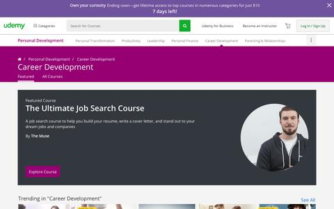 Career Development Courses: Make Money Doing What You Love