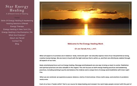 Screenshot of Home Page star-energy-healing.com - Star Energy Healing - A different kind of healing - captured Feb. 23, 2016
