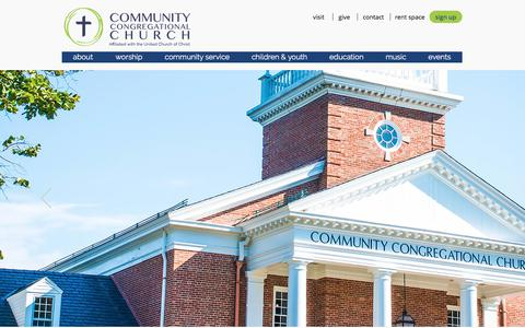 Screenshot of Home Page communitychurch.org - Home - captured Aug. 16, 2017