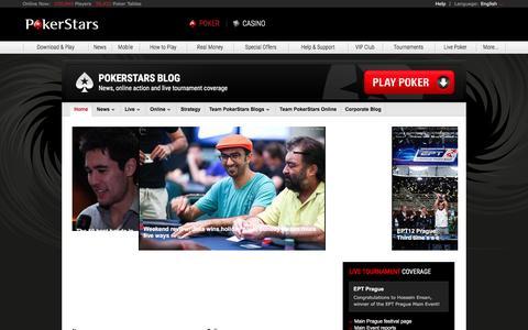 Screenshot of Blog pokerstars.com - PokerStars Blog - captured Dec. 27, 2015