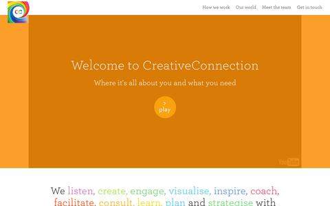 Screenshot of Home Page creativeconnection.co.uk - CreativeConnection - Creative Connection - captured Feb. 4, 2016