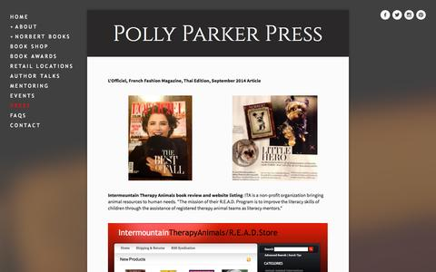 Screenshot of Press Page pollyparkerpress.com - PRESS — Polly Parker Press - captured Oct. 3, 2014