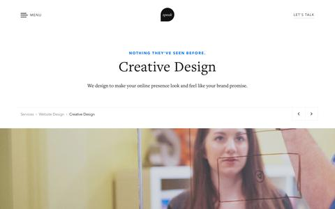 Creative Design: Creative Web Designers | Speak Creative